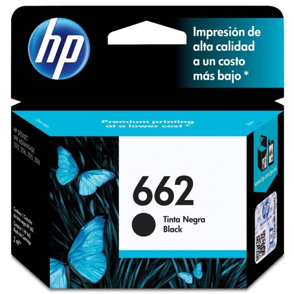 CARTUCHO HP 662 PRETO ORIGINAL