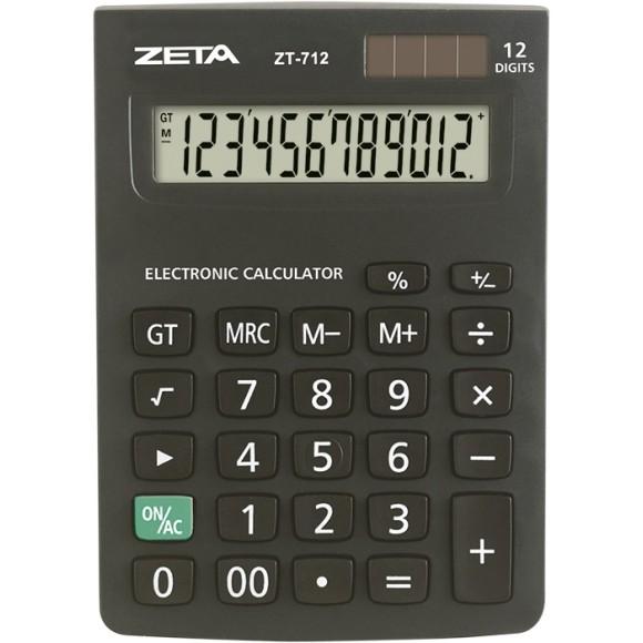 CALCULADORA MESA 12 DIGITOS 14X10CM ZT712 ZETA