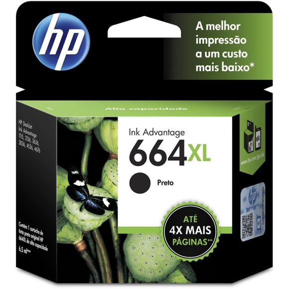 CARTUCHO HP 664 XL PRETO ORIGINAL