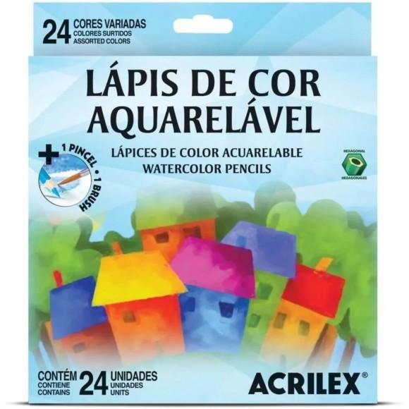 LAPIS DE COR C/24 CORES AQUARELAVEL ACRILEX
