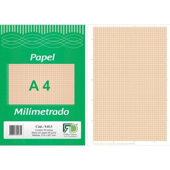 BLOCO MILIMETRADO A4 56GR C/50 FOLHAS FD