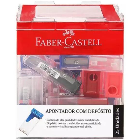 APONTADOR C/DEPOSITO CX C/25 FABER CASTELL