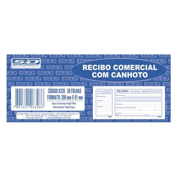 BL. RECIBO COMERCIAL C/CANHOTO C/50 FLS SAO DOMINGOS
