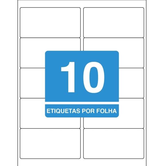 ETIQUETA 50,8MM x 101,6MM CARTA TB6183 100FLS 1000 ETIQS. 10 P/FOLHA TILIBRA