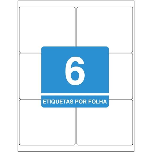 ETIQUETA 84,7MM X 101,6MM CARTA TB6184 C/100FLS 600 ETIQS. 6 P/FOLHA TILIBRA