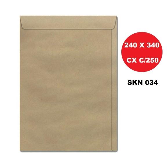 ENVELOPE SACO 240X340 KRAFT CAIXA C/250 FORONI | SCRITY