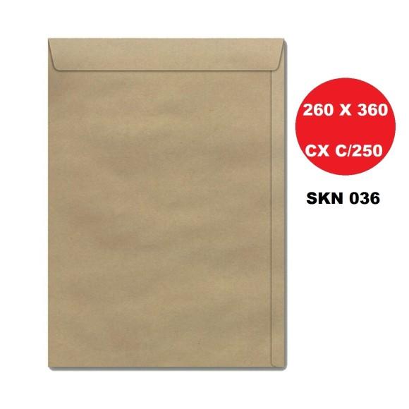 ENVELOPE SACO 260X360 KRAFT CAIXA C/250 FORONI | SCRITY