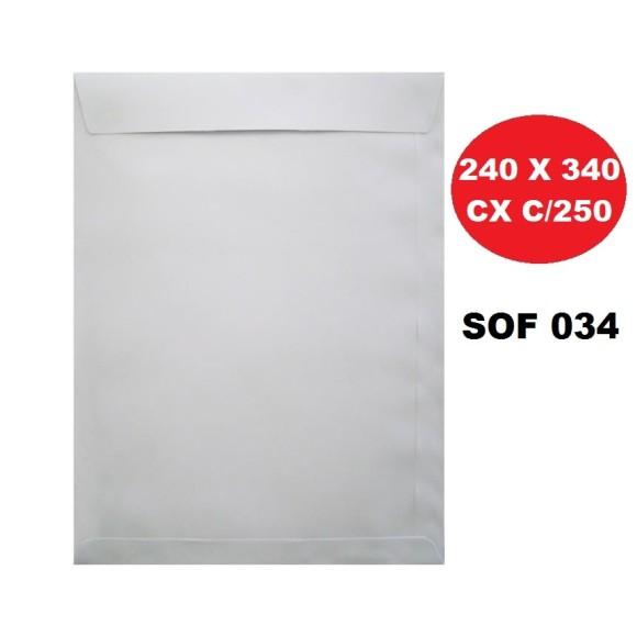 ENVELOPE SACO 240X340 BRANCO CAIXA C/250 FORONI | SCRITY