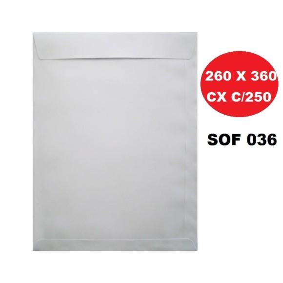ENVELOPE SACO 260X360 BRANCO CAIXA C/250 FORONI | SCRITY