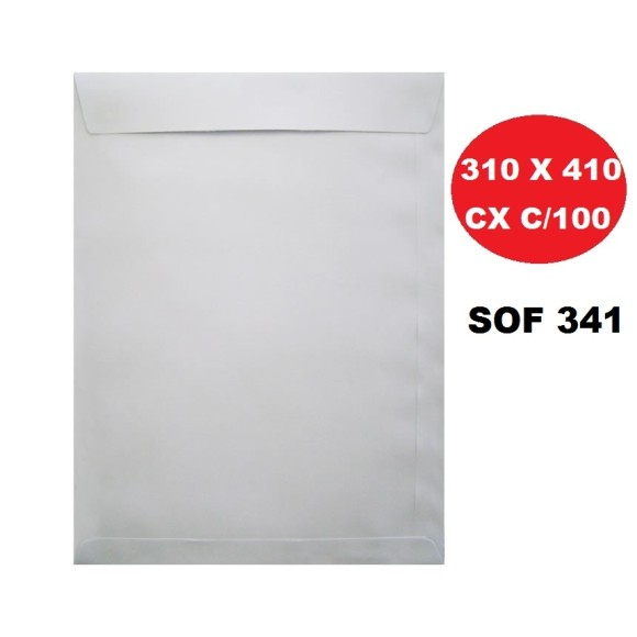 ENVELOPE SACO 310X410 BRANCO CAIXA C/100 FORONI   SCRITY