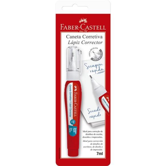 CANETA CORRETIVA 7ML BLISTER FABER CASTELL