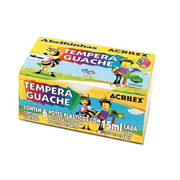 GUACHE 15ML C/6 CORES TEMPERA ACRILEX