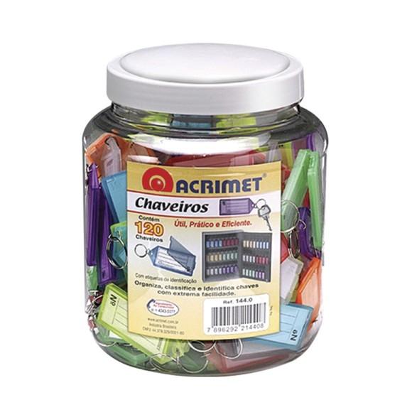CHAVEIRO PLASTICO POTE C/120 ACRIMET