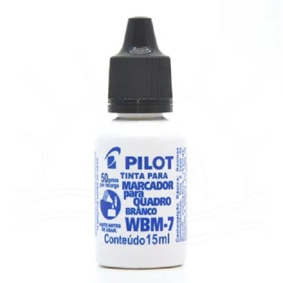 TINTA P/PINCEL QUADRO BRANCO WBM-7 15ML PRETO PILOT