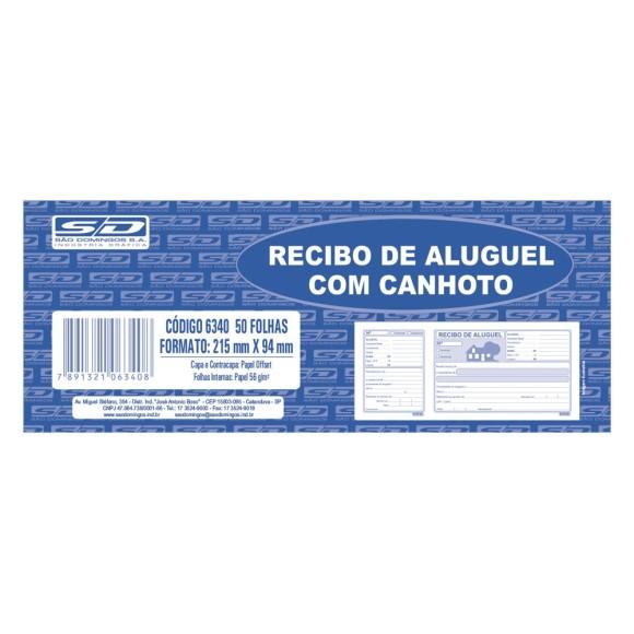 BL. RECIBO DE ALUGUEL C/CANHOTO SAO DOMINGOS