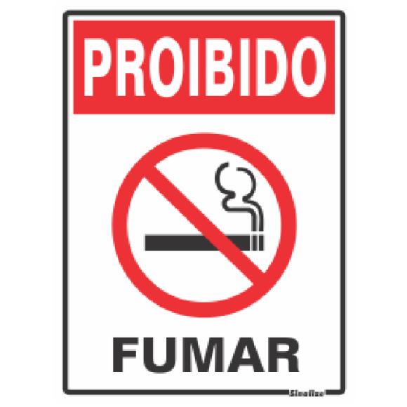 PLACA SINALIZAÇÃO PROIBIDO FUMAR 15X20 POLIESTIRENO SINALIZE