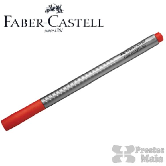 CANETA HIDROGRAFICA 0.4MM VERMELHO GRIP FINE PEN FABER CASTELL