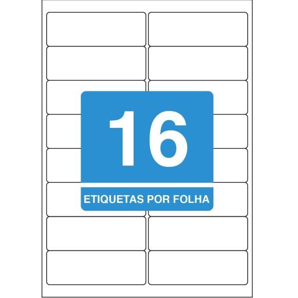 ETIQUETA 99,1X34 A4 TBA4362 100FLS 1600 ETIQS. 16 P/FOLHA TILIBRA