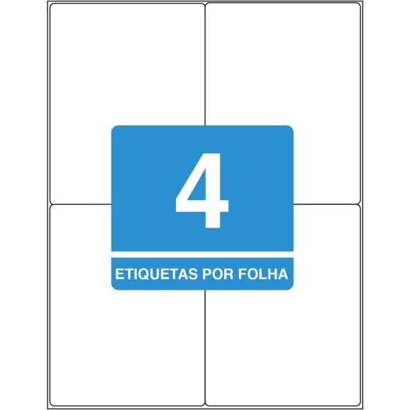 ETIQUETA 138,11X106,36 CARTA TB6188 100FLS 400 ETIQS. 4 P/FOLHA TILIBRA