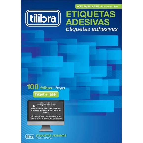 ETIQUETA 138,11MMX106,36MM CARTA TB6188 100FLS 400 ETIQS. 4 P/FOLHA TILIBRA