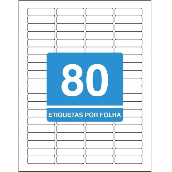 ETIQUETA 12,7X44,5 CARTA TB6287 25FLS 2000 ETIQS. 80 P/FOLHA TILIBRA