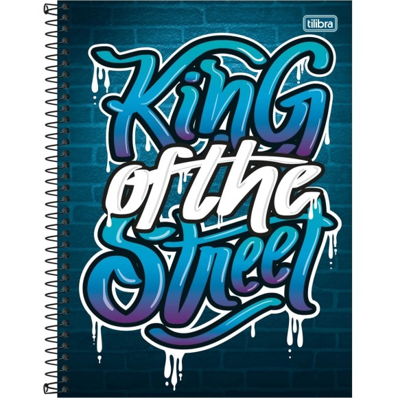 CADERNO CAPA DURA UNIV. 10X1 160FLS GRAFFITI KING OF THE STREET TILIBRA