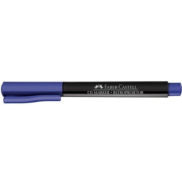 CANETA RETROPROJETOR/CD AZUL MEDIA FABER CASTELL