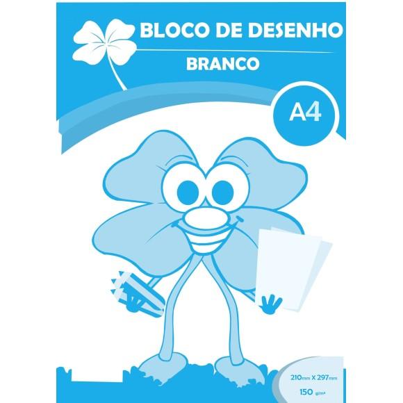 BLOCO DESENHO A4 BRANCO 150GR C/20 FOLHAS TREVO