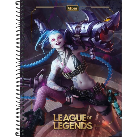 CADERNO CAPA DURA UNIV. 10X1 160FLS LEAGUE OF LEGENDS TILIBRA