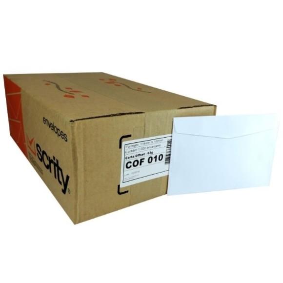ENVELOPE CARTA 114X162 BRANCO CAIXA C/1000 FORONI | SCRITY