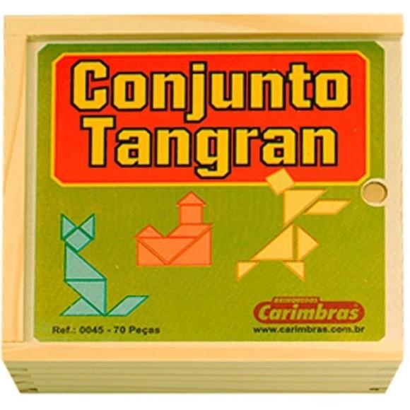 CONJUNTO TANGRAM C/70 PEÇAS MADEIRA CARIMBRAS