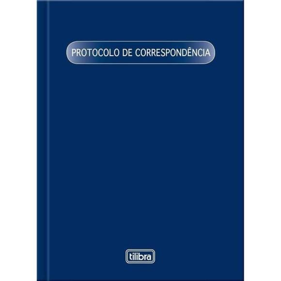 LIVRO PROTOCOLO DE CORRESPONDENCIA 1/4 C/104 FOLHAS PEQUENO TILIBRA
