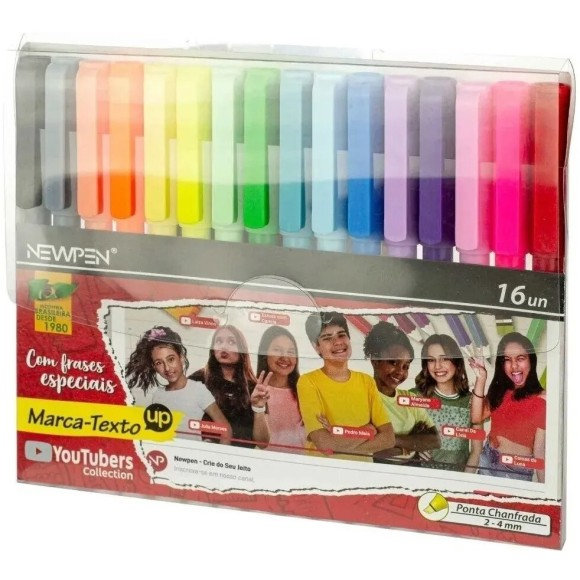 MARCA TEXTO C/16 CORES UP YOUTUBERS COLLECTION NEWPEN