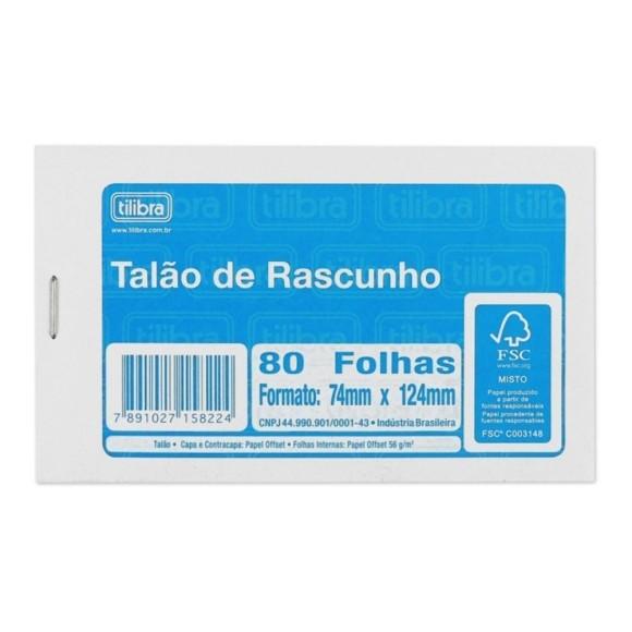 BLOCO RASCUNHO PEQUENO BRANCO C/PICOTE C/80 FOLHAS TILIBRA