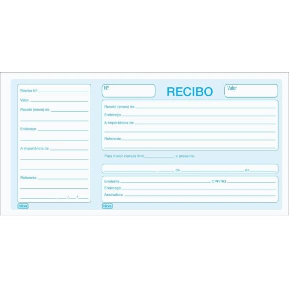 BLOCO RECIBO COMERCIAL C/CANHOTO C/100 FOLHAS TILIBRA