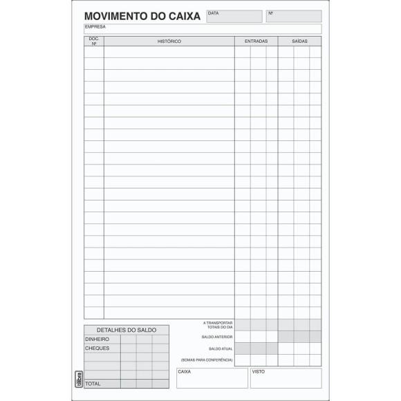 BLOCO MOVIMENTO DO CAIXA GRANDE C/100 FOLHAS TILIBRA